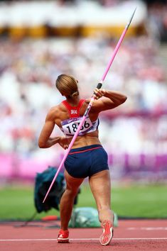 Jessica Ennis of Great Britain competes in the Women's Heptathlon Javelin Throw on Day 8 of the London 2012 Olympic Games at Olympic Stadium on August 4, 2012 in London, England.