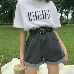 Teen Fashion Outfits, Mode Outfits, Retro Outfits, Cute Casual Outfits, Summer Outfits, Girl Outfits, Korean Girl Fashion, Ulzzang Fashion, Style Fashion