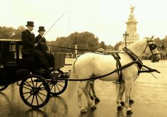 Royal carriage visiting Buckingham Palace
