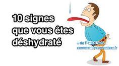 Heureusement, si vous connaissez les signes, vous pouvez éviter la déshydratation avant qu'elle ne provoque des complications encore plus sérieuses.  Découvrez l'astuce ici : http://www.comment-economiser.fr/10-signes-qui-indiquent-que-vous-etes-deshydrate.html?utm_content=buffer85131&utm_medium=social&utm_source=pinterest.com&utm_campaign=buffer