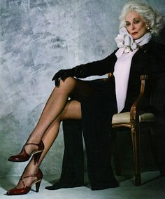 Atrice Carmen Dell' Orefice, age 81. Look at those gams (you just about have to be her age to know what those are).