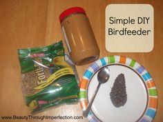 Bird Feeder DIY - toddler and kid friendly