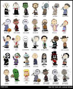 Peanuts, Horror Movie Characters