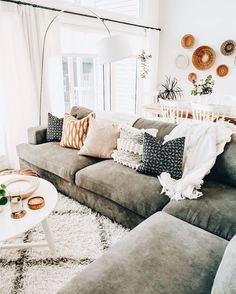 Cozy Cosy Living Room Lounge Room Sofa And Couch Inspo Neutral Home Style Inspir. - Cozy Cosy Living Room Lounge Room Sofa And Couch Inspo Neutral Home Style Inspiration Home Interior - Living Room Lounge, Boho Living Room, Cozy Living Rooms, Apartment Living, Home And Living, Living Room Decor, Modern Living, Decor Room, Living Room White Walls