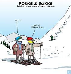 F&S gaan voor het eerst skiën