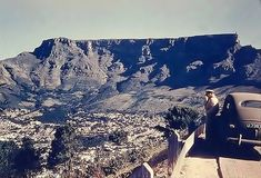 a Visiting sailor from the aircraft carrier USS Midway doing what every tourist does. Signal Hill, Aircraft Carrier, Cape Town, Old Houses, South Africa, Grand Canyon, Military, Sailor, History
