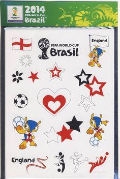 50 BRAZIL FIFA WORLD CUP 2014 TEMPORARY TATTOOS ENGLAND FOOTBALL PARTY BAG    eBay