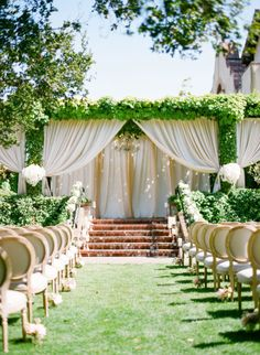 Magical ceremony: http://www.stylemepretty.com/2015/04/07/dreamy-blush-ivory-sonoma-wedding/ | Photography: KT Merry - http://www.ktmerry.com/