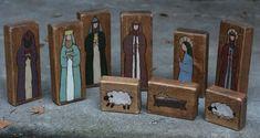 Nativity blocks - like the simple outline designs.