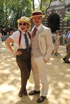 On the grounds of Governors Island's Jazz Age Lawn Party‬ [Photo by Kyle Ericksen] Great Gatsby Fashion, Great Gatsby Party, 20s Fashion, Fashion News, Vintage Fashion, Lindy Hop, Jazz Age Lawn Party, 1920s Costume, Tweed Run