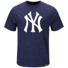 release date 640fa 5500c New York Yankees Majestic Mental Metal Heather T-Shirt - Navy