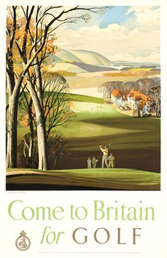 Hilder, Rowland  Come to Britain for Golf, 1935