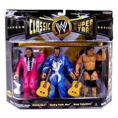 WWE Wrestling Classic Superstars Limited Edition Champion Series 3-Pack Rythm and Blues Jimmy Hart, Honky Tonk Man and Greg Valentine by Jakks Pacific
