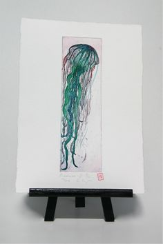 Medusa /  Jellyfish  Original Etching by freshandsilly on Etsy, $30.00 Printing Press, Jellyfish, Medusa, Paper Size, Under The Sea, Different Colors, Stamp, Colours, The Originals