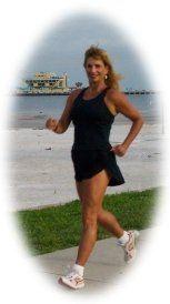 Bonnie Racewalking in Downtown St. Petersburg, Florida