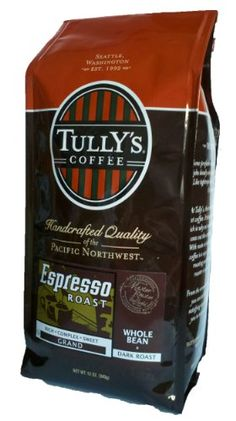 Tullys Coffee Espresso Roast Whole Bean Dark Roast 12Ounce Bags Pack of 2 >>> Click image to review more details.