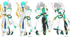 Embedded Ain Elsword, Elsword Game, Rainbow Colors, Pink And Green, Character Design, Geek Stuff, Fan Art, Manga, Ships