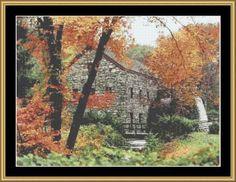 Grist Mill [FP-MASS01] - $16.00 : Mystic Stitch Inc, The fine art of counted cross stitch patterns