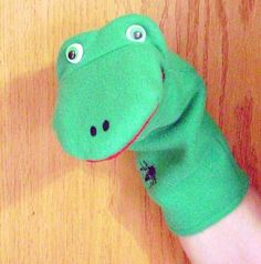 Fleece Frog Hand Puppet by puppetsbymargie on Etsy