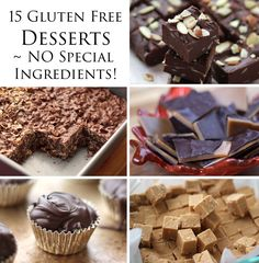 A collection of 15 easy, inexpensive, gluten free dessert recipes that require no special ingredients at all! by Barefeet In The Kitchen