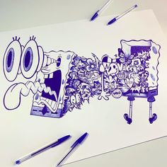 Easy Doodle Art, Doodle Art Designs, Doodle Art Drawing, Doodle 2, Graffiti Doodles, Graffiti Drawing, Graffiti Art, Drawing Cartoon Characters, Graffiti Characters
