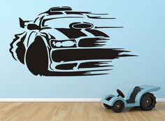 neat vinyl decal for car themed room