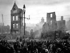 Cork City Centre, burned by the Black and Tans as retribution for Irish rebellion.