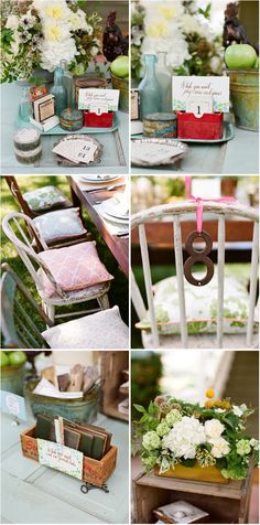 I really love the chairs. Very shabby-chic :)