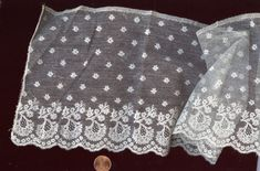 Mechlin border, probably late or early c Lacemaking, Antique Lace, Bobbin Lace, The Twenties, Lace Trim, Lace Shorts, Vintage Antiques, 18th, Applique