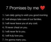 To promises your boyfriend to make 40 Promise