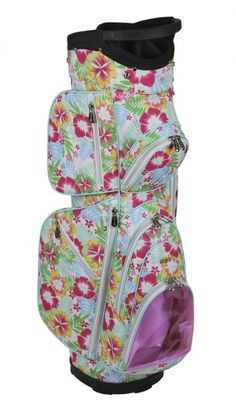 Stand out on the golf course with the pretty patterns of this Mai Tai Cutler Ladies Golf Cart Bag! Your personality will shine through with a golf bag from #lorisgolfshoppe!