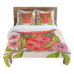 Cute Owl Duvet Cover.