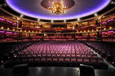Inside the Voyager of the Seas luxury cruise liner ... the ship's La Scala Theatre. Photo by Justin McManus.