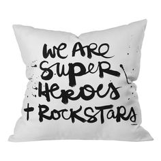 Meet the home accessory that packs a lot of punch! The Kal Barteski Superheroes Throw Pillow by DENY Designs is made from a medium-weight woven polyester fabric thats super soft in touch and transformative in every way! Its the small accessory that can brighten a space, add a pop of color or dress up a couch. Add the fact that youre supporting artist communities with this purchase and youve got the perfect home accent in the Kal Barteski Superheroes Throw Pillow by DENY Designs!