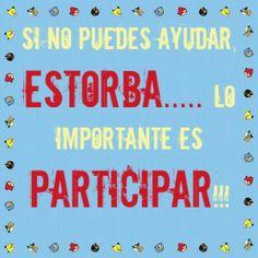 Lo importante es participar!!