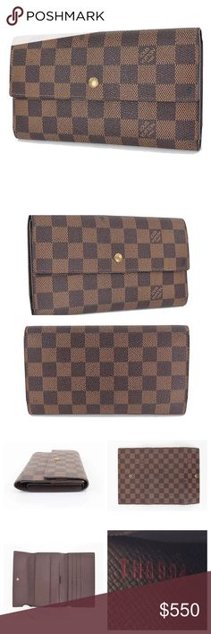 Coming soon!! Auth International Damier LV wallet Authentic Louis Vuitton Damier international Tresor trifold Wallet card/ monetary organizers. Good vintage condition. Louis Vuitton Bags Wallets
