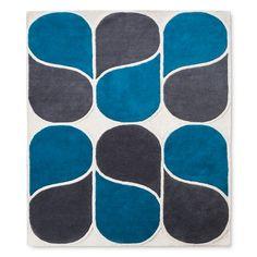 Hand Tufted Wool Rug 5'x7' Blue - Modern by Dwell Magazine : Target