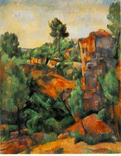 Paul Cezanne, 'Bibemus Quarry', ('Carriere de Bibemus'), Oil on Canvas, 1895. The Barnes Foundation, Philadelphia, Pennsylvania.