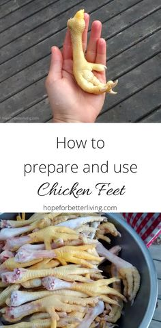 Learn to use every part when butchering your meat birds! Yes, even the feet!
