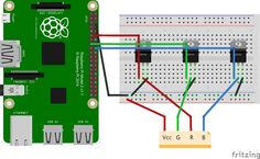 How to control a RGB or a WS2812 LED Strip with a Raspberry Pi