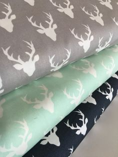 Hello Bear fabric bundle of 3 MINI Deer fabric by Art