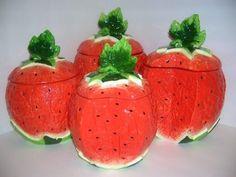 WATERMELON 3-D Majolica 4 Canisters Set *NEW* KMC/KK-Watermelon,http://www.amazon.com/dp/B001B1ESOQ/ref=cm_sw_r_pi_dp_356vtb0BD3E7PAHP