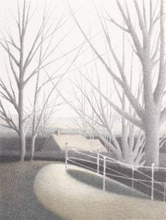 """""""A Park in the Country""""  Color lithograph  6 1/2"""" x 5""""  1983"""