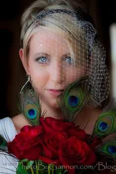 I loved this #stonewallmanor #bride, and her awesome #diywedding details with peacock feathers.  Gorgeous! #bridal #wedding