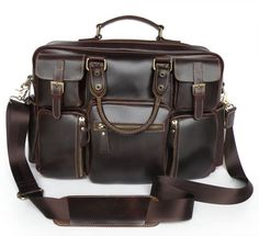 Handmade Large Superior Leather Tote Business Travel Bag