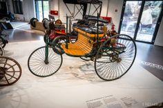 """Benz """"Patent-Motorwagen"""" (1886) replica, Deutsches Technikmuseum (German Museum of Technology), Berlin, Germany"""
