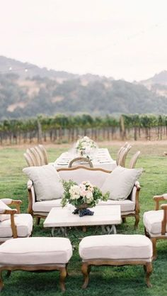 Wine + Wed | casual living room in the middle of a vineyard. yes please!