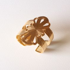 Long Flower Teardrop Cuff — Yuwei Designs  yuweidesigns.com