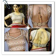 Party saree blouse