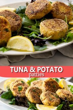 Tuna and Potato Patties - These Easy Tuna and Potato Patties are a great dinner option that the whole family will enjoy. Healthy Tuna Recipes, Canned Tuna Recipes, Baby Food Recipes, Seafood Recipes, Vegetarian Recipes, Dinner Recipes, Tuna Dinner Recipe, Tuna Balls Recipe, Simple Cooking Recipes